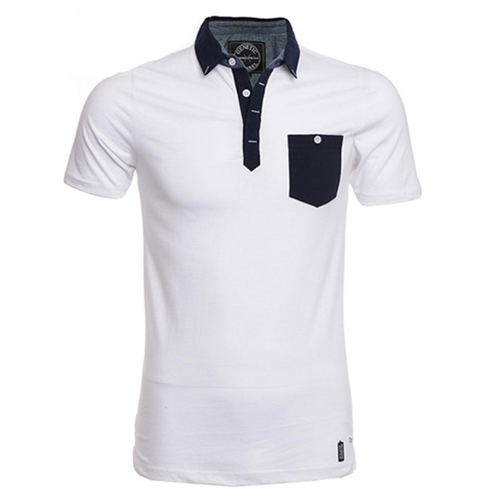 Mens Polo Shirt Casual Slim Fit Stylish Short Sleeve