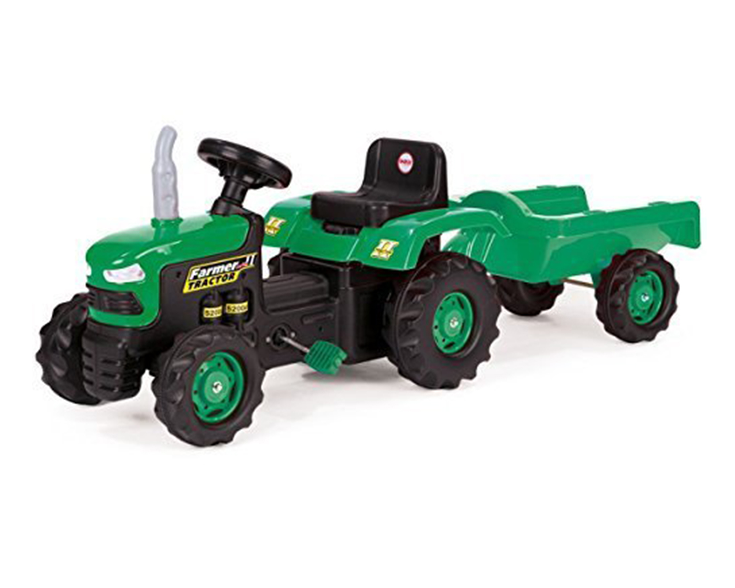 Dolu Kids Children Pedal Ride On Farmer Tractor Toy With ...
