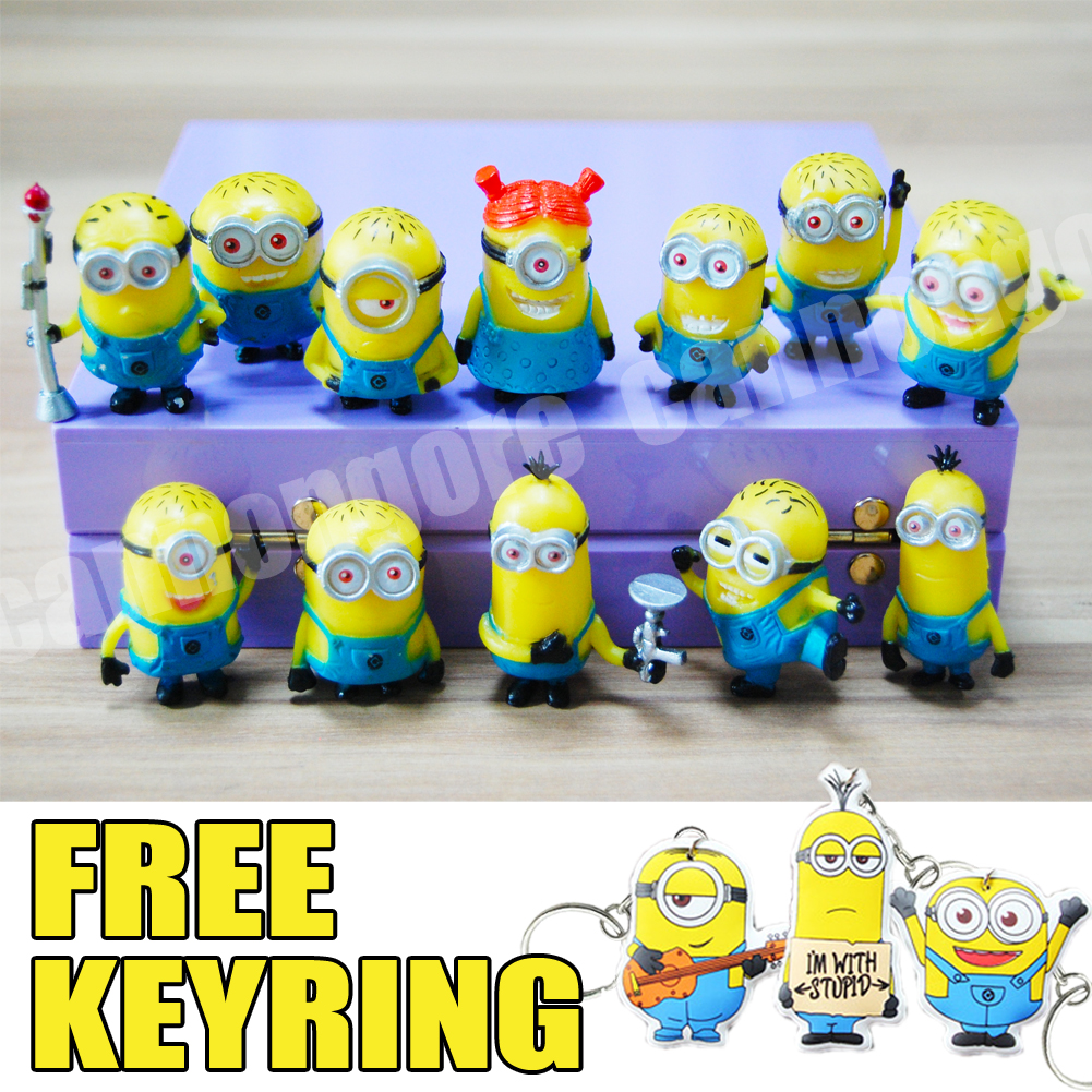 Minion Cake Decorations Uk : Minions Cake Toppers Topper Set Minion Toys Models ...