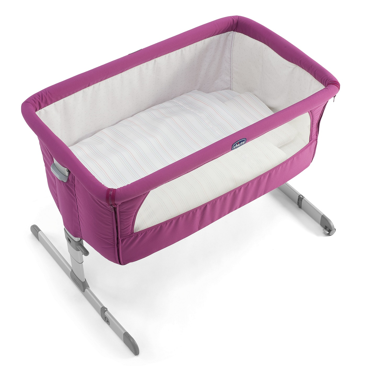 chicco next 2 me co side sleeping crib fuchsia ebay. Black Bedroom Furniture Sets. Home Design Ideas