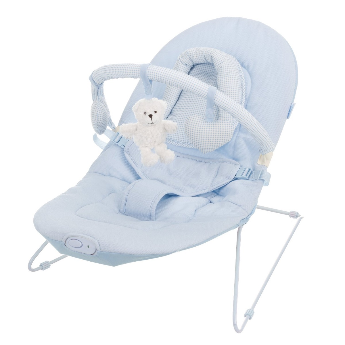 Obaby B Is For Bear Vibrating Baby Bouncer Chair In Blue
