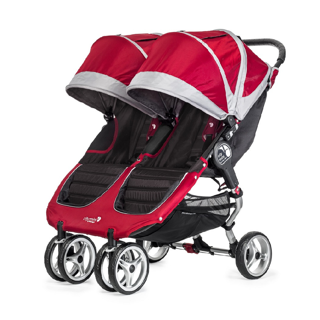 Baby Jogger City Mini Double Crimson Side By Side Twin
