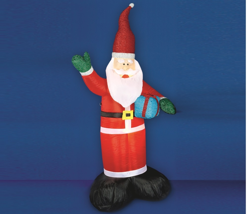 Inflatable santa 39 lights up 39 outdoor christmas for Outdoor light up ornaments