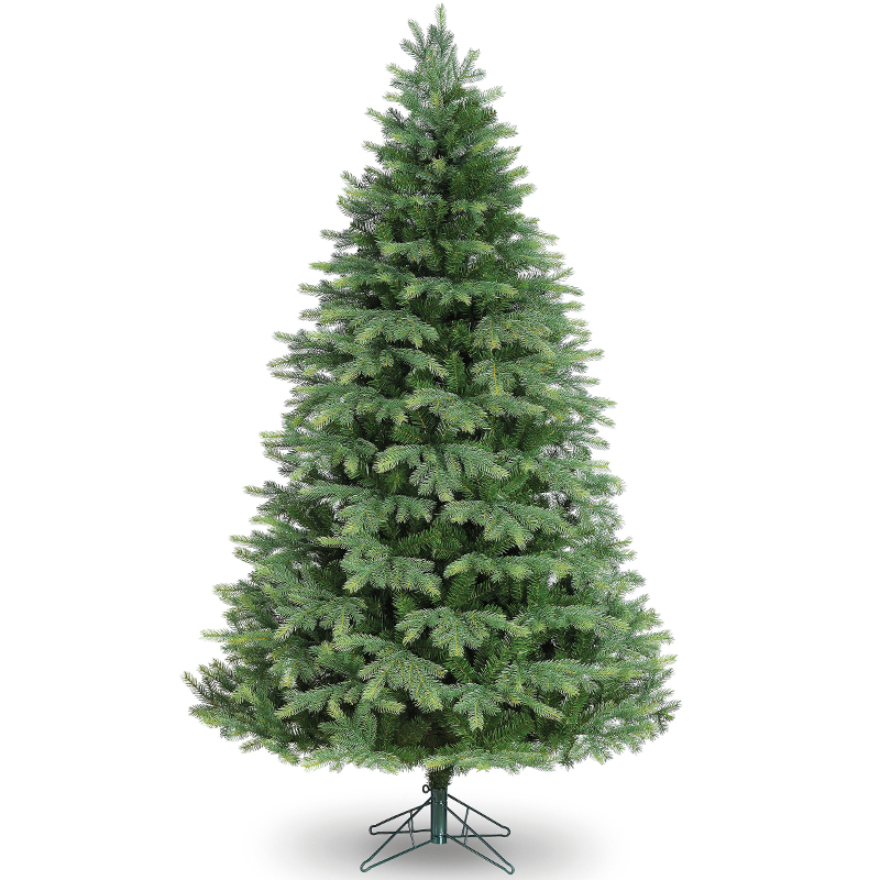 New 7ft 39 ashley spruce 39 artificial christmas tree with pe tips - Tips to care for a natural christmas tree ...