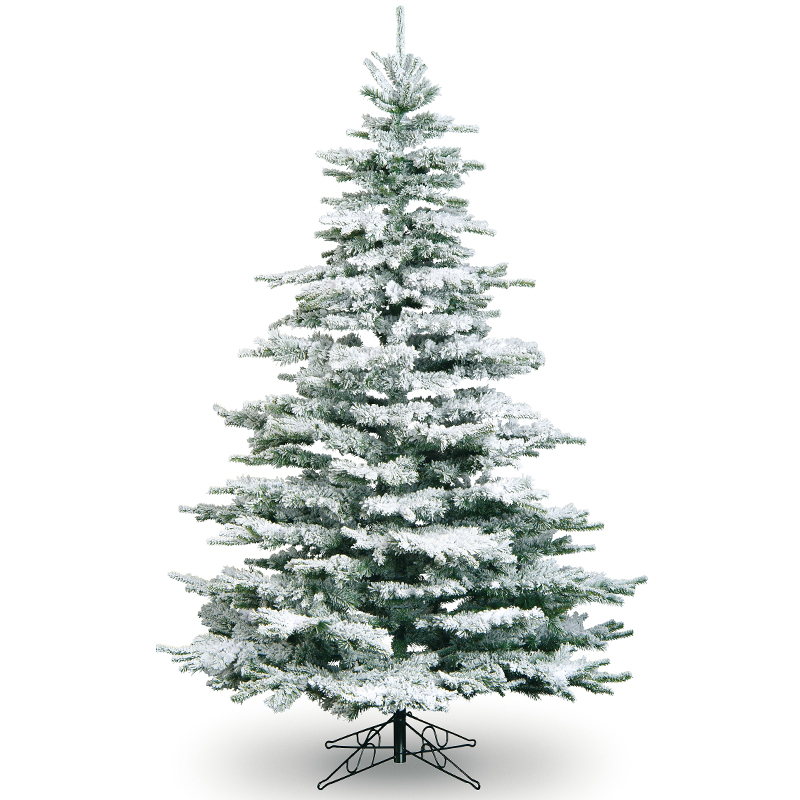 7ft Snowy Flocked Noble Pine Tree Artificial Christmas