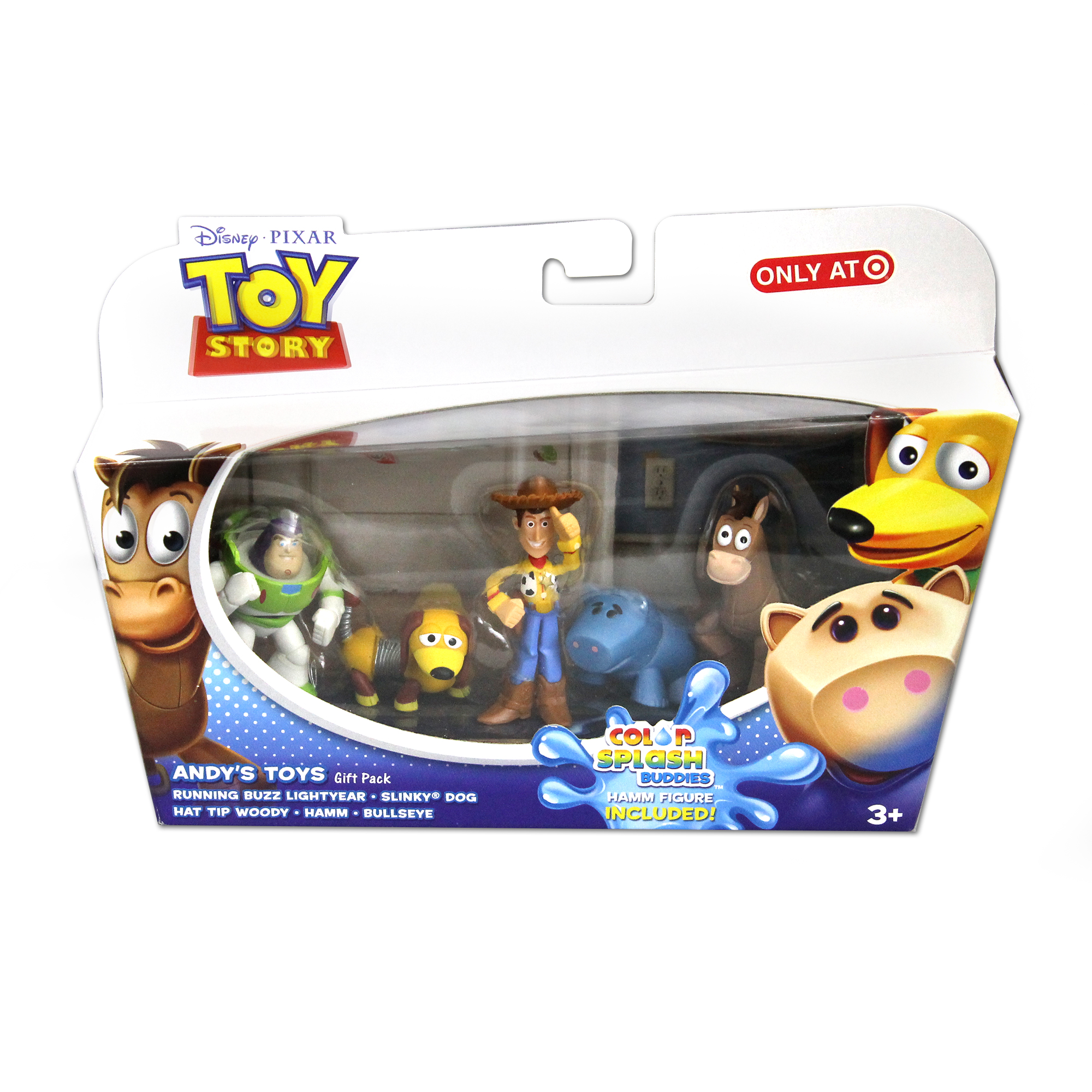 Toy Story - Andy's Toys Gift Pack - Running Buzz Lightyear, Slinky Dog ...