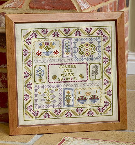 hs counted cross stitch sampler kit wedding boxes ebay
