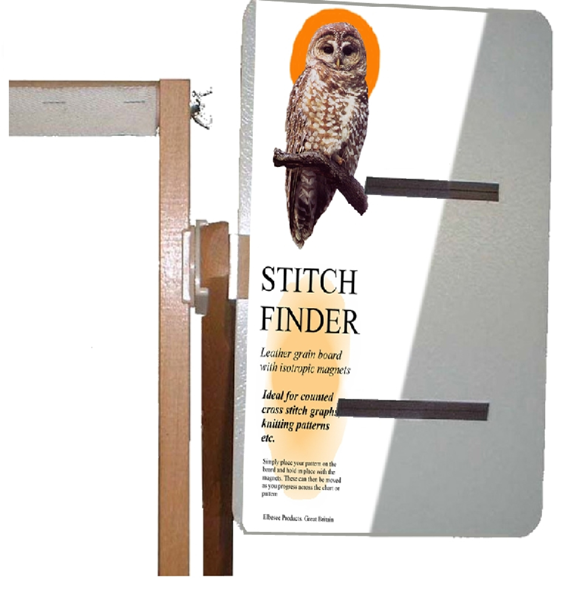 Magnetic Knitting Pattern Holder : Magnetic Stitch Finder Board 28x20cm (11x8in) for Cross Stitch & Knit...