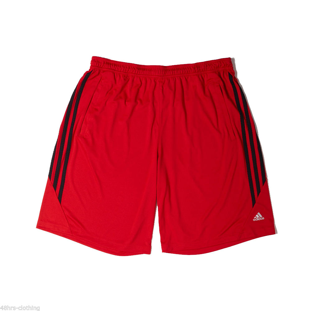 adidas mens climalite emid shorts red casual long training. Black Bedroom Furniture Sets. Home Design Ideas