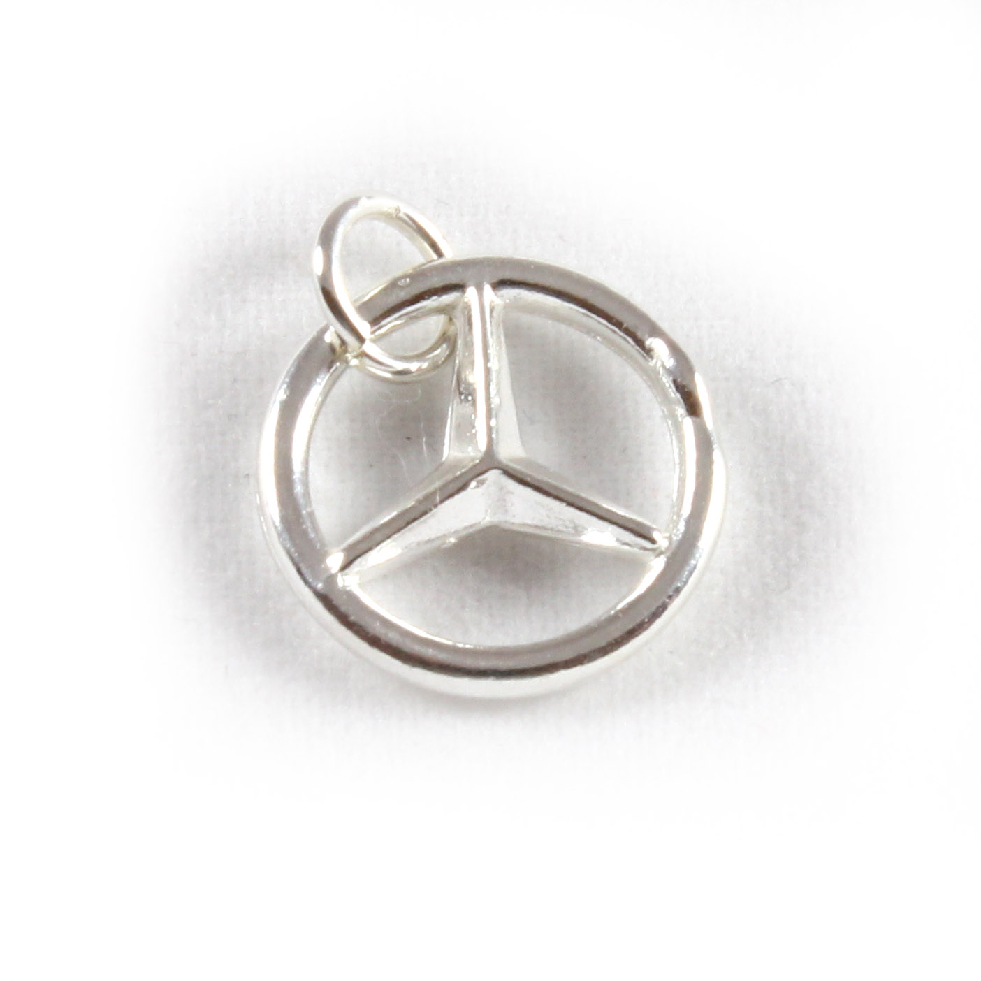 Mercedes benz symbol charm 3d sterling silver charms ebay for Mercedes benz charm