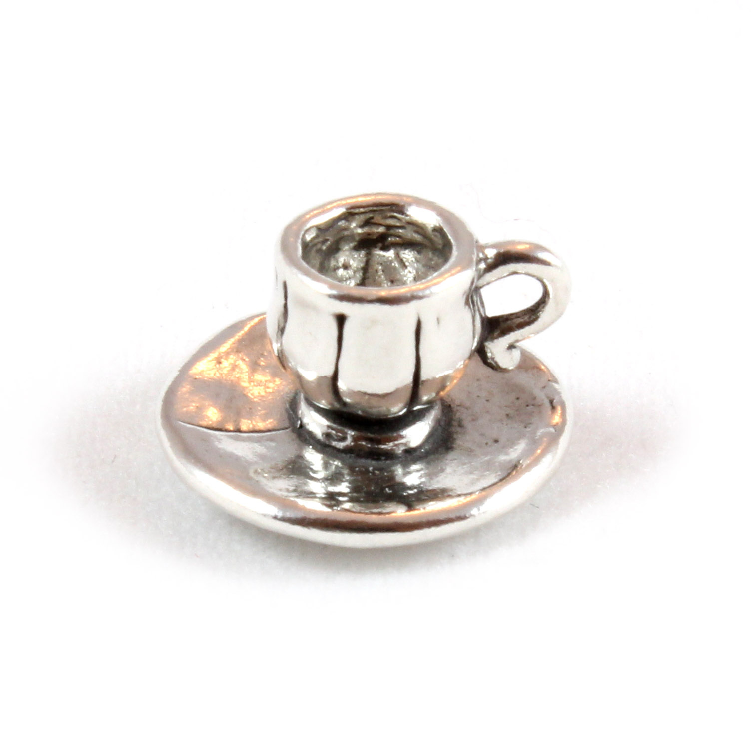 Cup & Saucer Charm 3D Sterling Silver Charms Coffee Tea | eBay - photo#6
