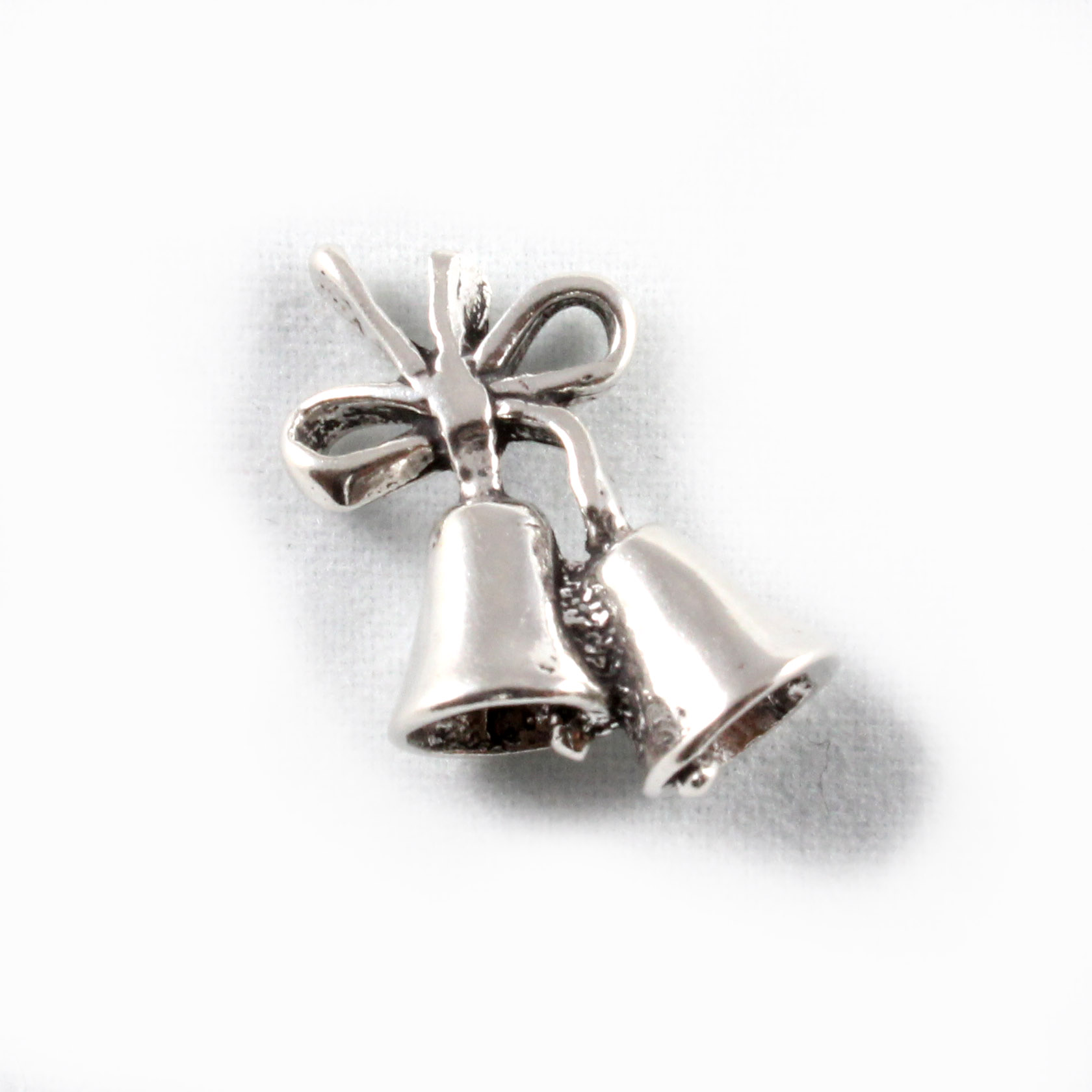 Wedding Bells Charm 3D Sterling Silver Charms
