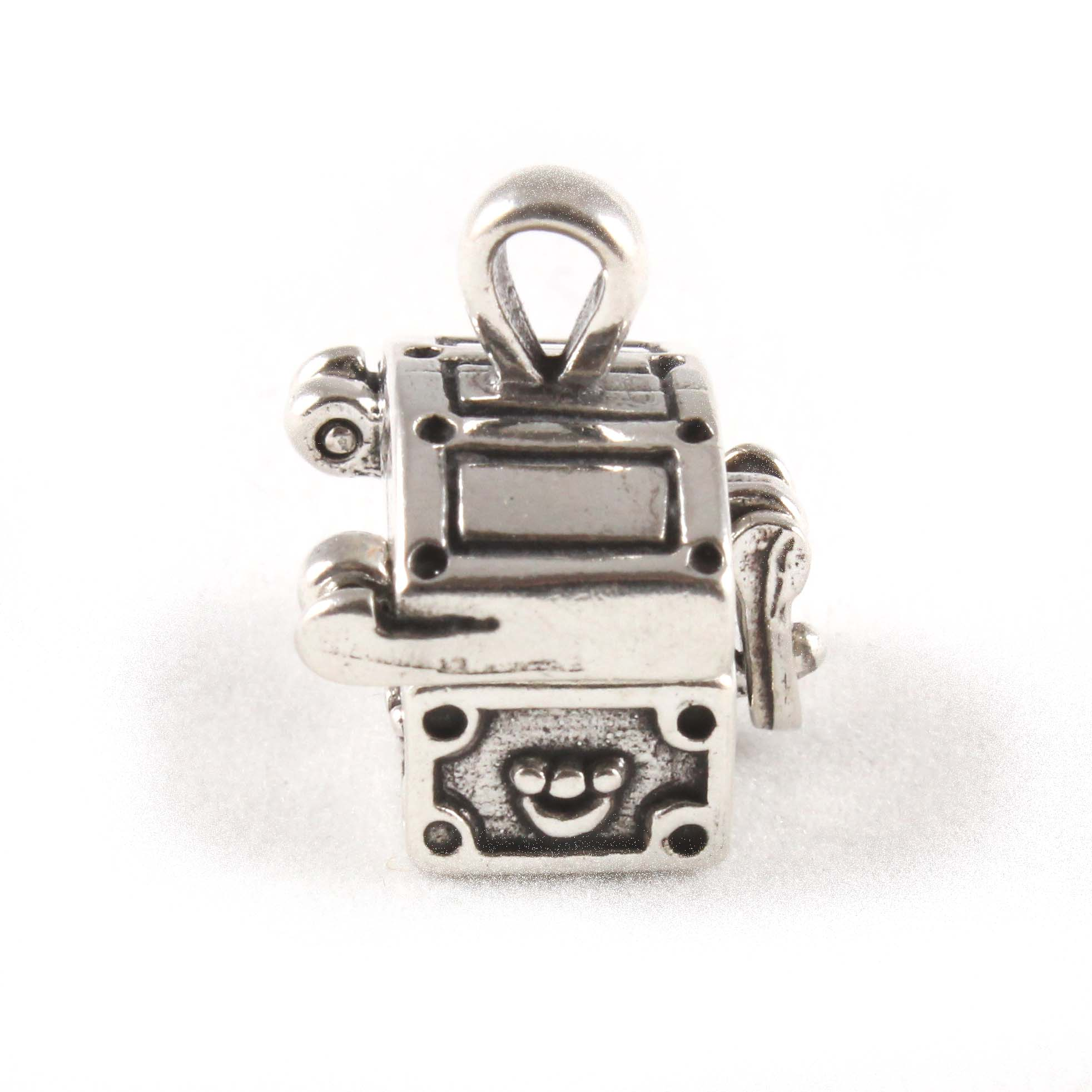 treasure chest charm 3d opening sterling silver charms