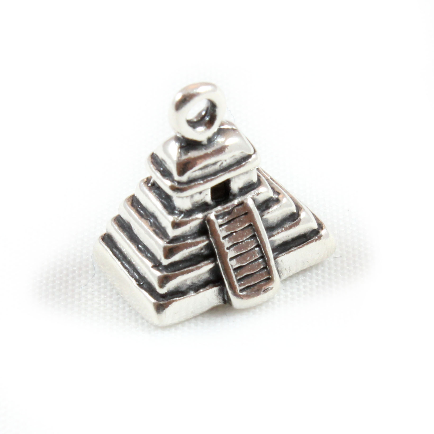 mayan pyramid 3d sterling silver charm mexico mexican ebay