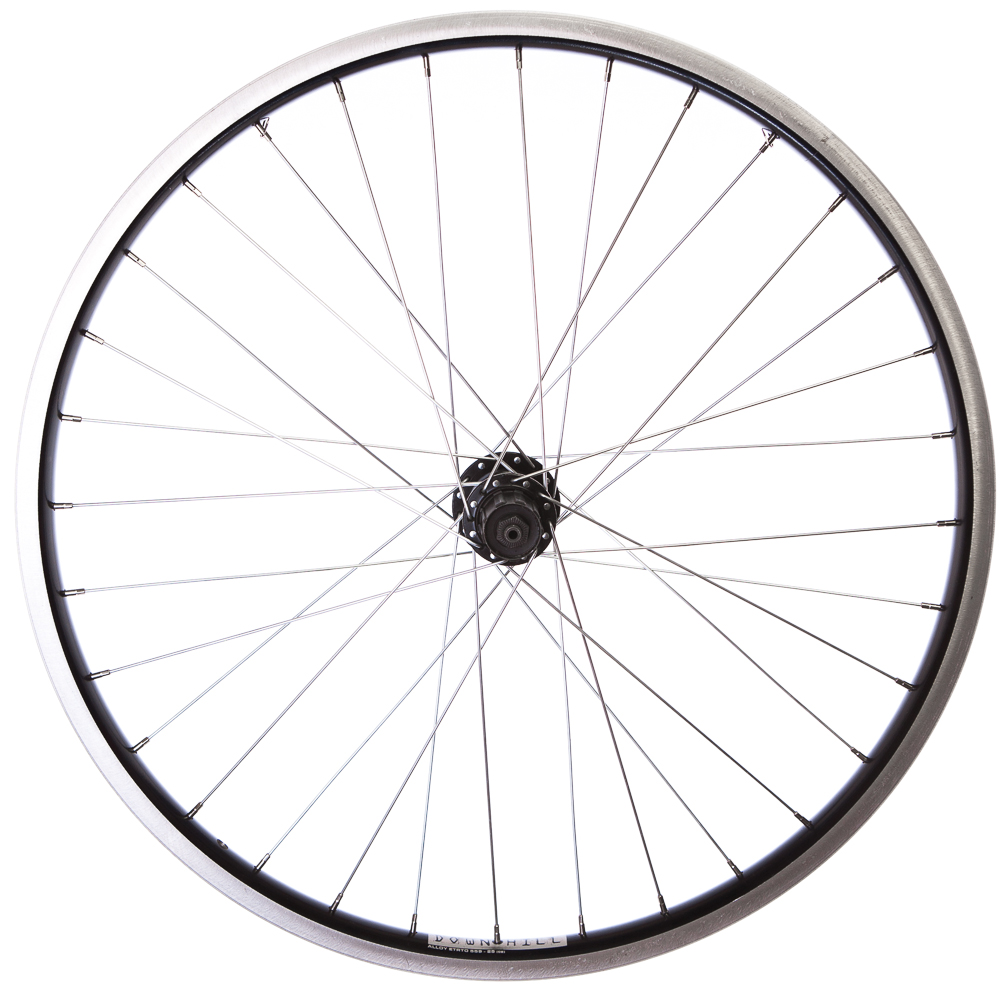 how to put a bike wheel on with disc brakes