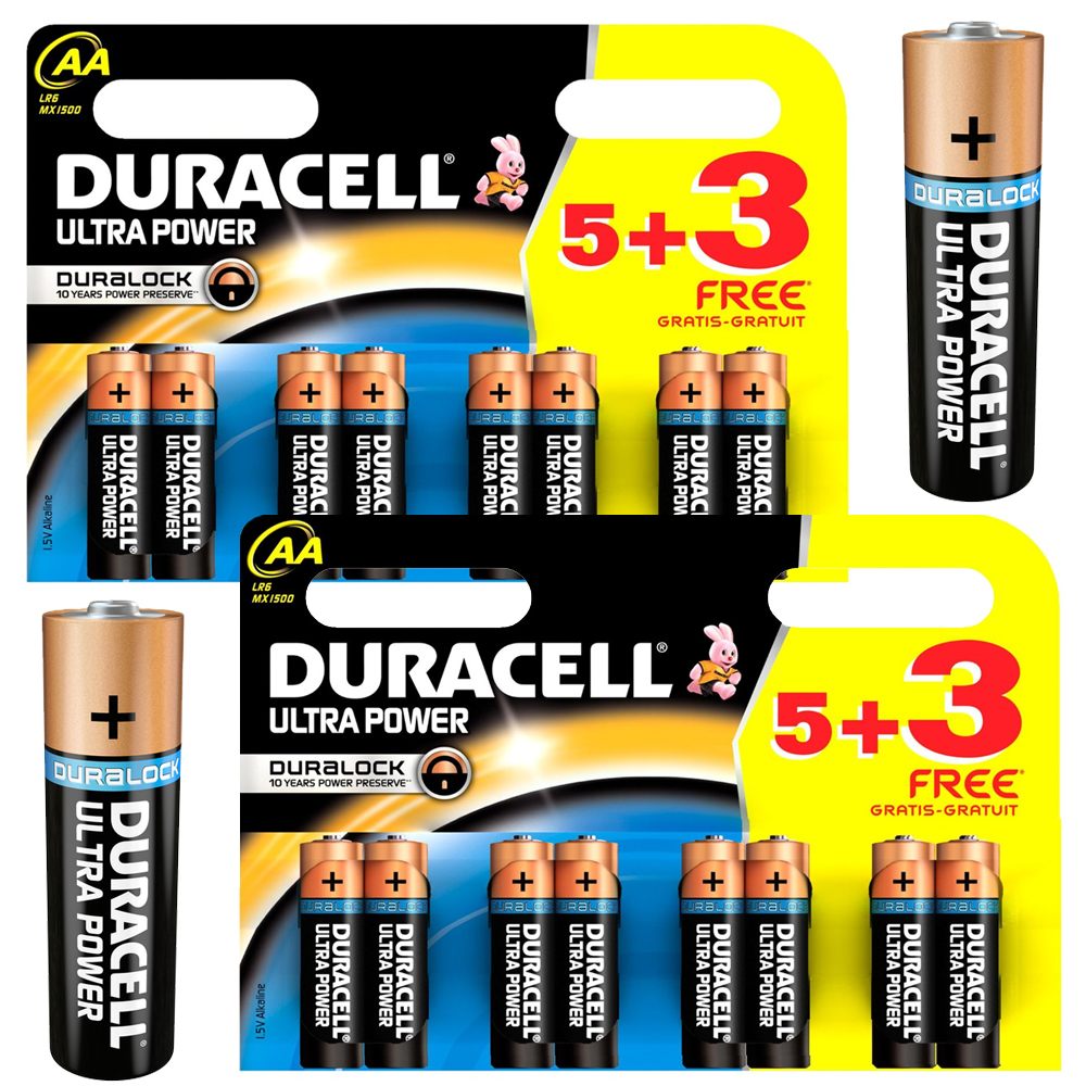 16 x duracell ultra power aa lr6 mn1500 alkaline battery for digital cameras ebay. Black Bedroom Furniture Sets. Home Design Ideas