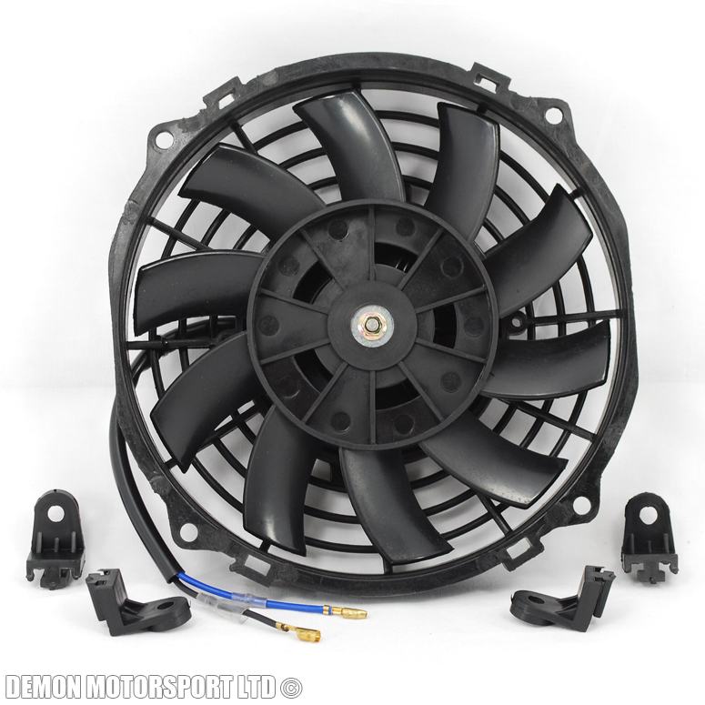 4 Inch 12 Volt Fan : Quot inch fan universal performance push pull electric v
