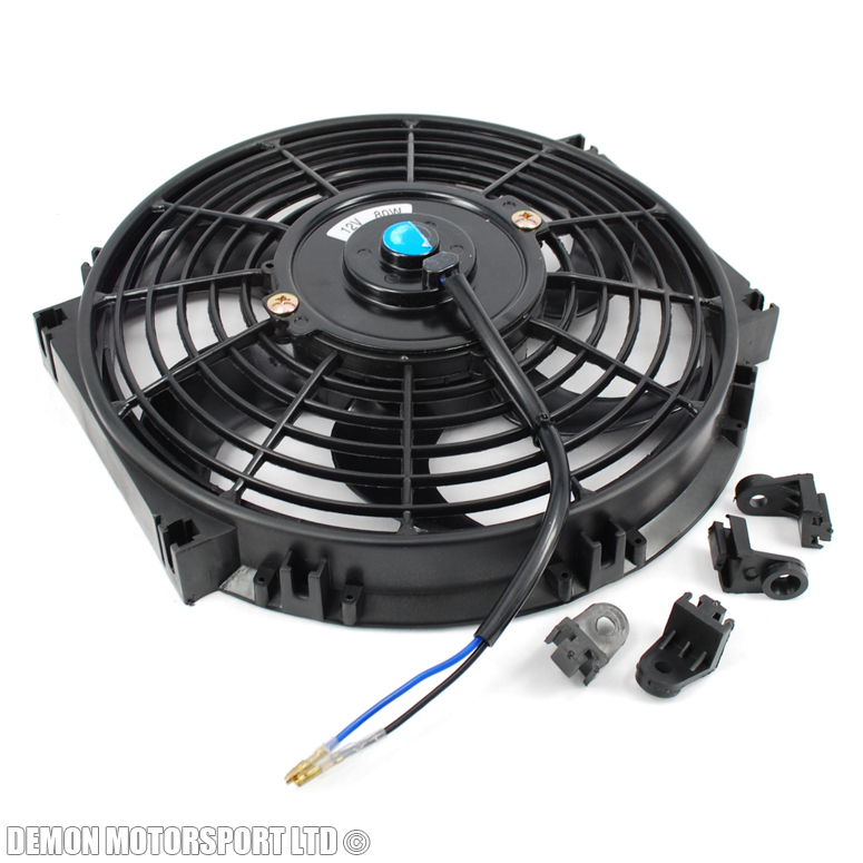 4 Inch 12 Volt Fan : Quot inch fan universal performance push pull electric