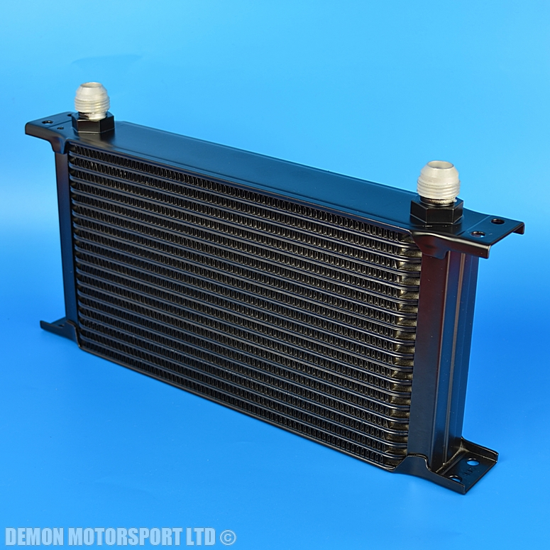 19 Row Oil Cooler Black An10 10 Male Alloy For Cafe Racer