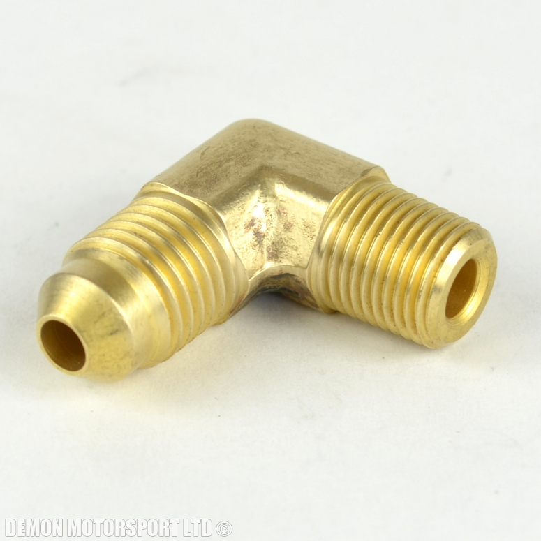 Npt to an degree brass fitting for turbo oil