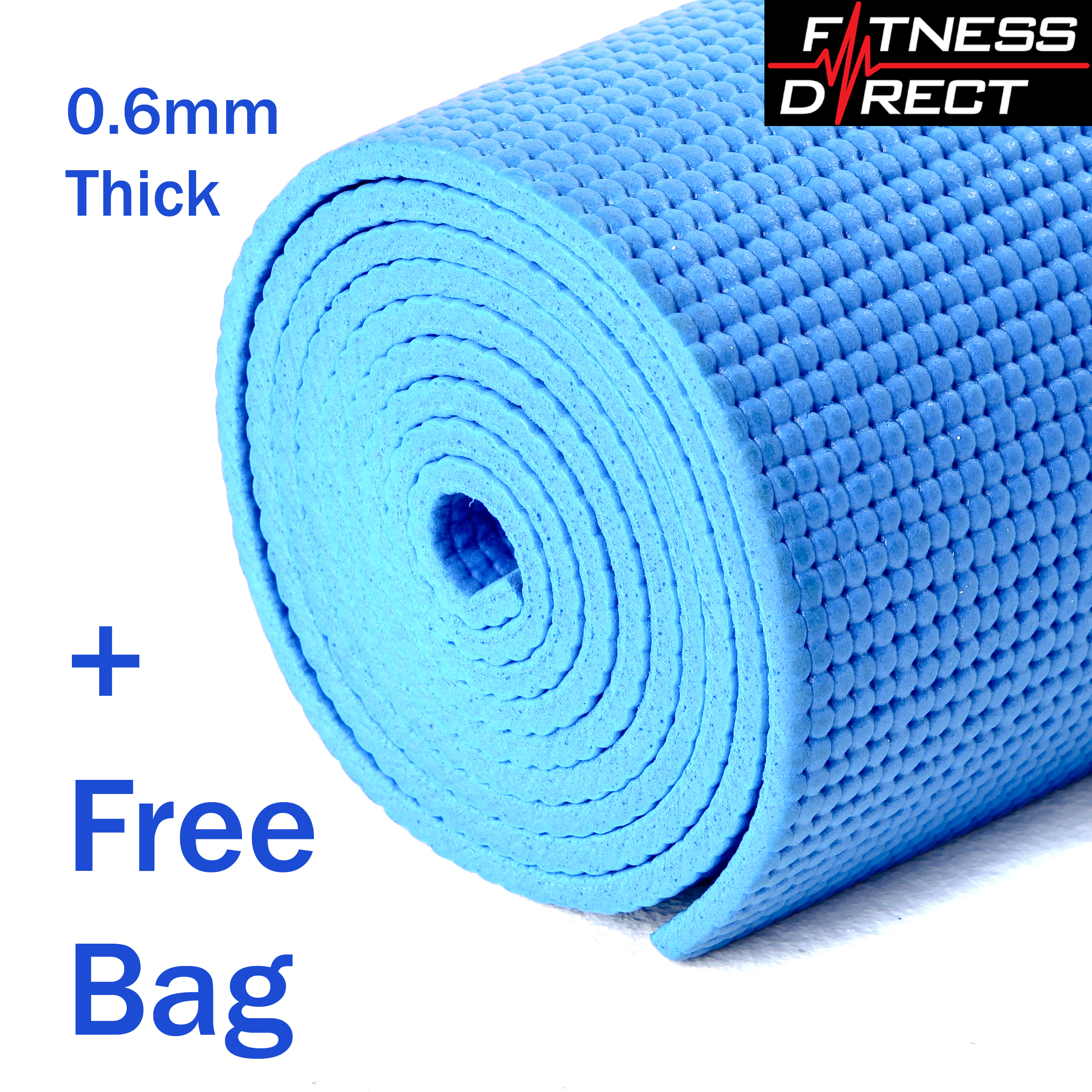 Gym Mats At Sports Direct: Yoga Mat PVC Thick Exercise Pilates Gym Physio Fitness