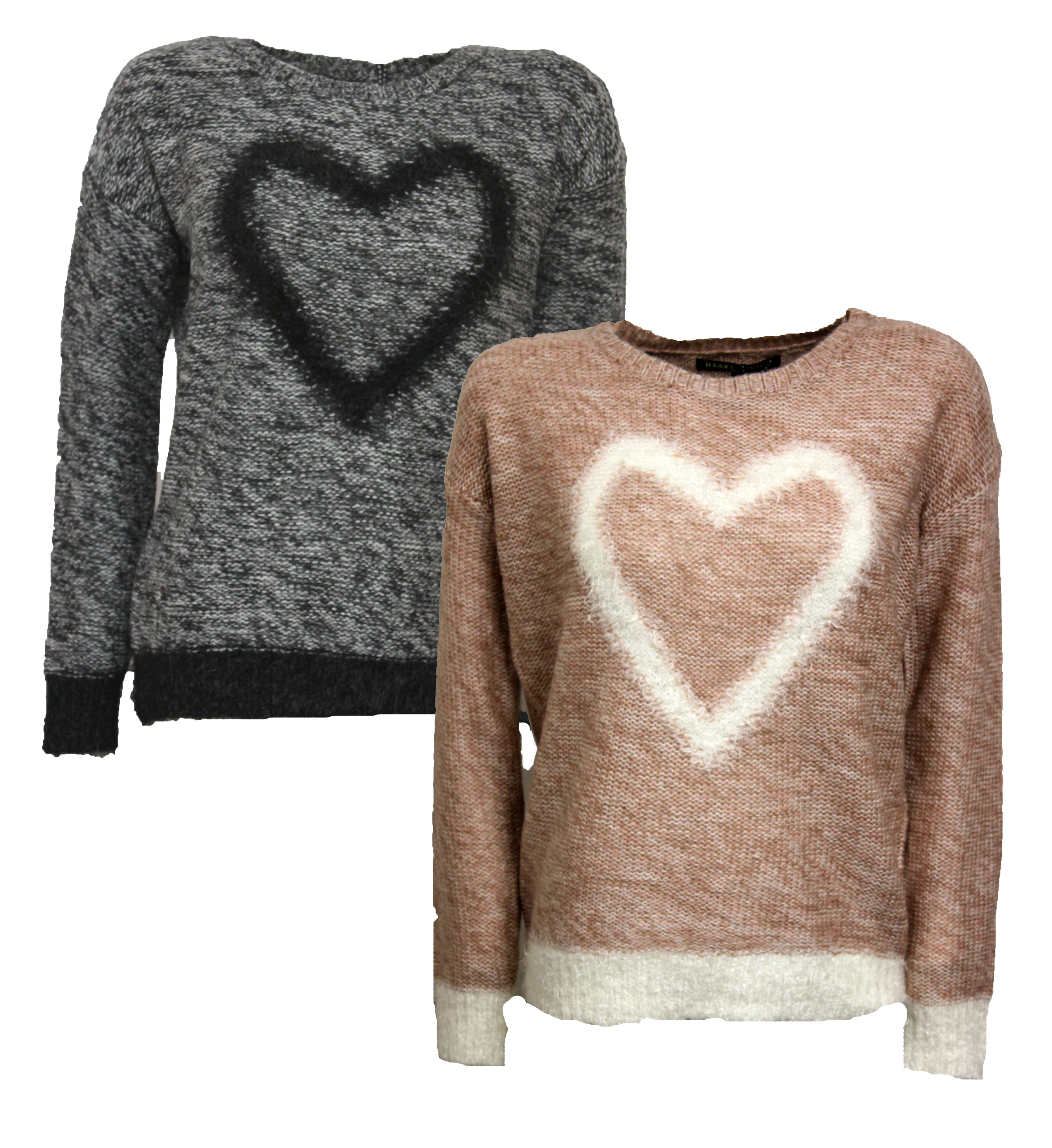Womens Heart and Soul Sunflower Heart Knitted Jumper ...