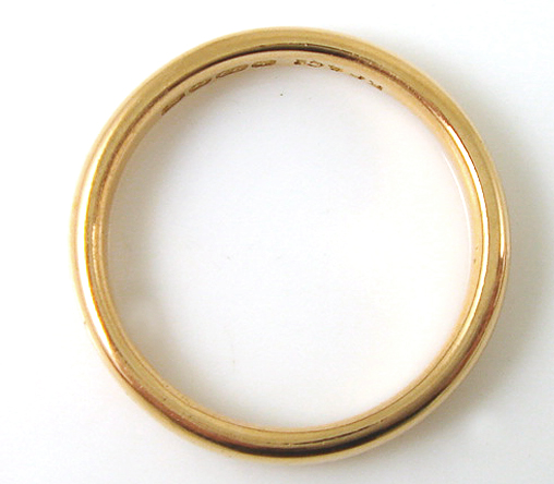 22ct Yellow Gold Ladies Pre Owned Court Wedding Ring CH586 EBay